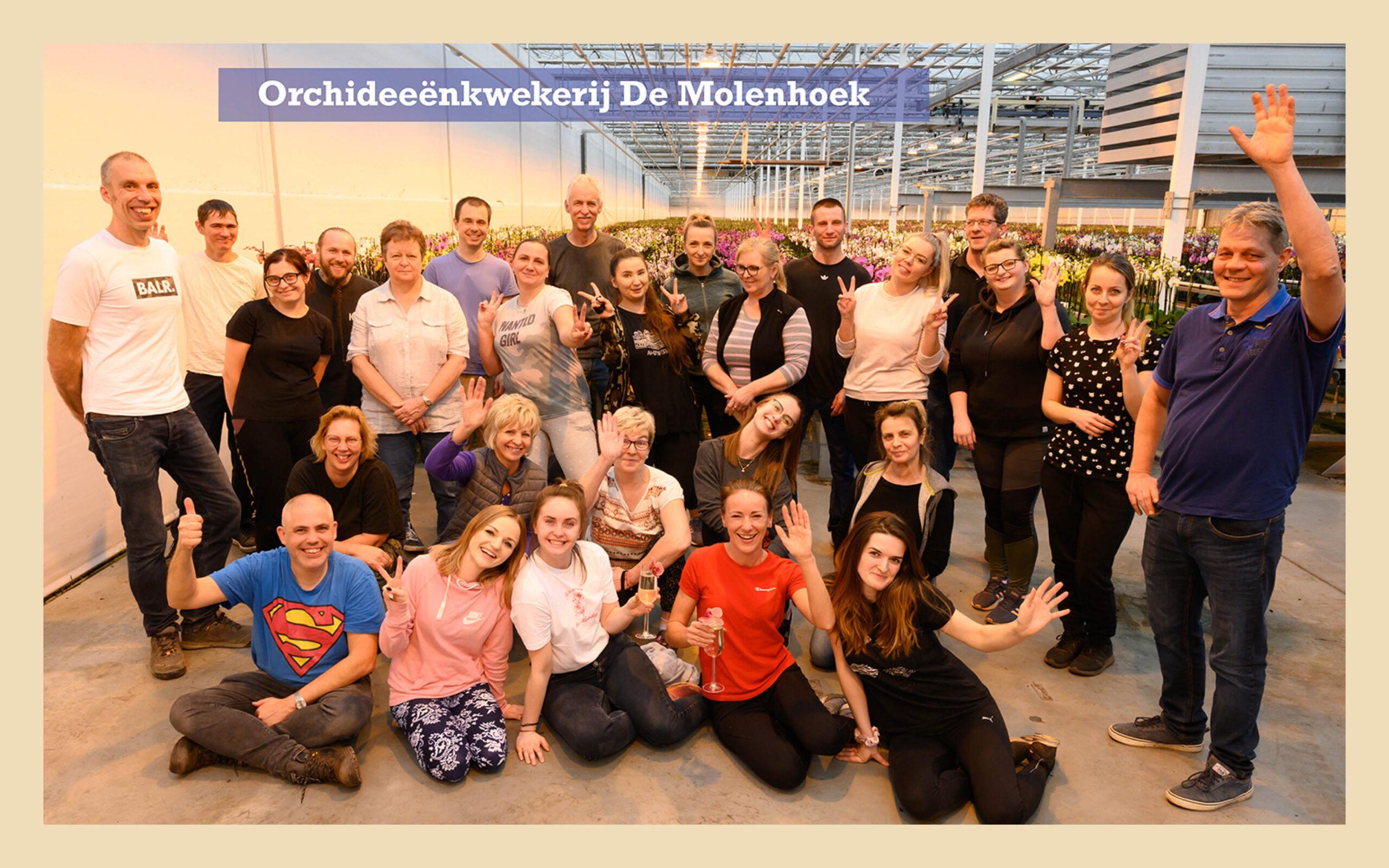 groepsfoto Kwekerij De Molenhoek 2020