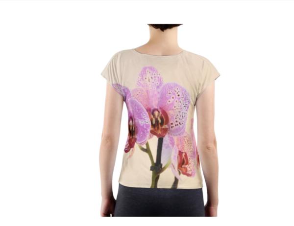 T-shirt met fotoprint -achterkant
