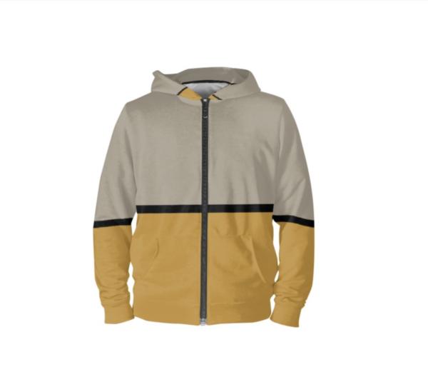 hoodie voorkant-wijziging op halslijn
